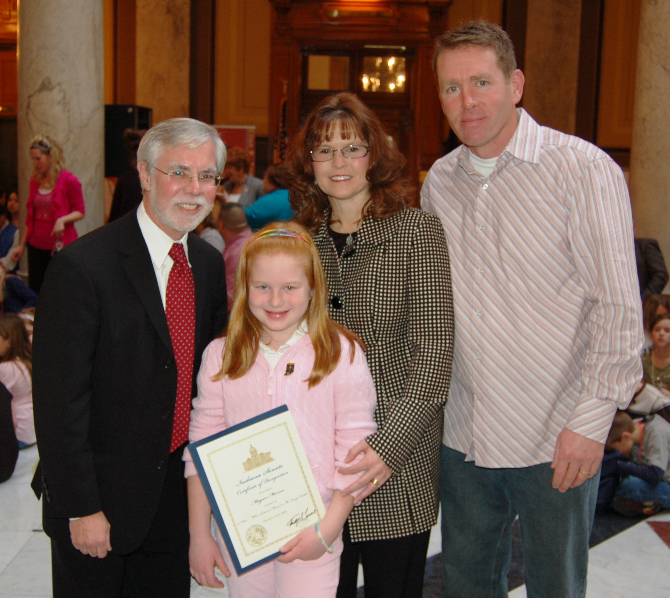 Senator Lanane with Megan Moran and her parents