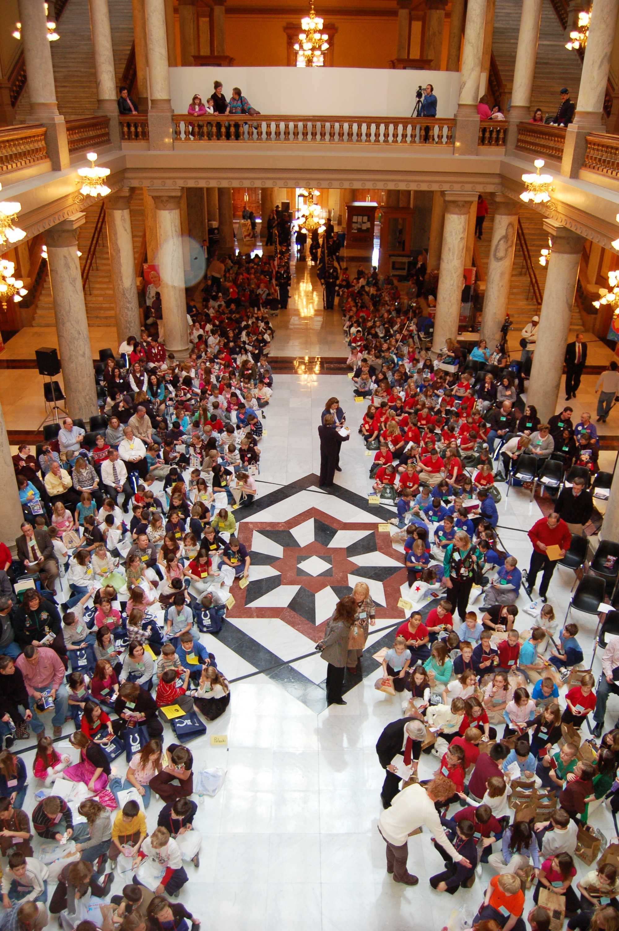 Students at Indiana Statehood Day 2009