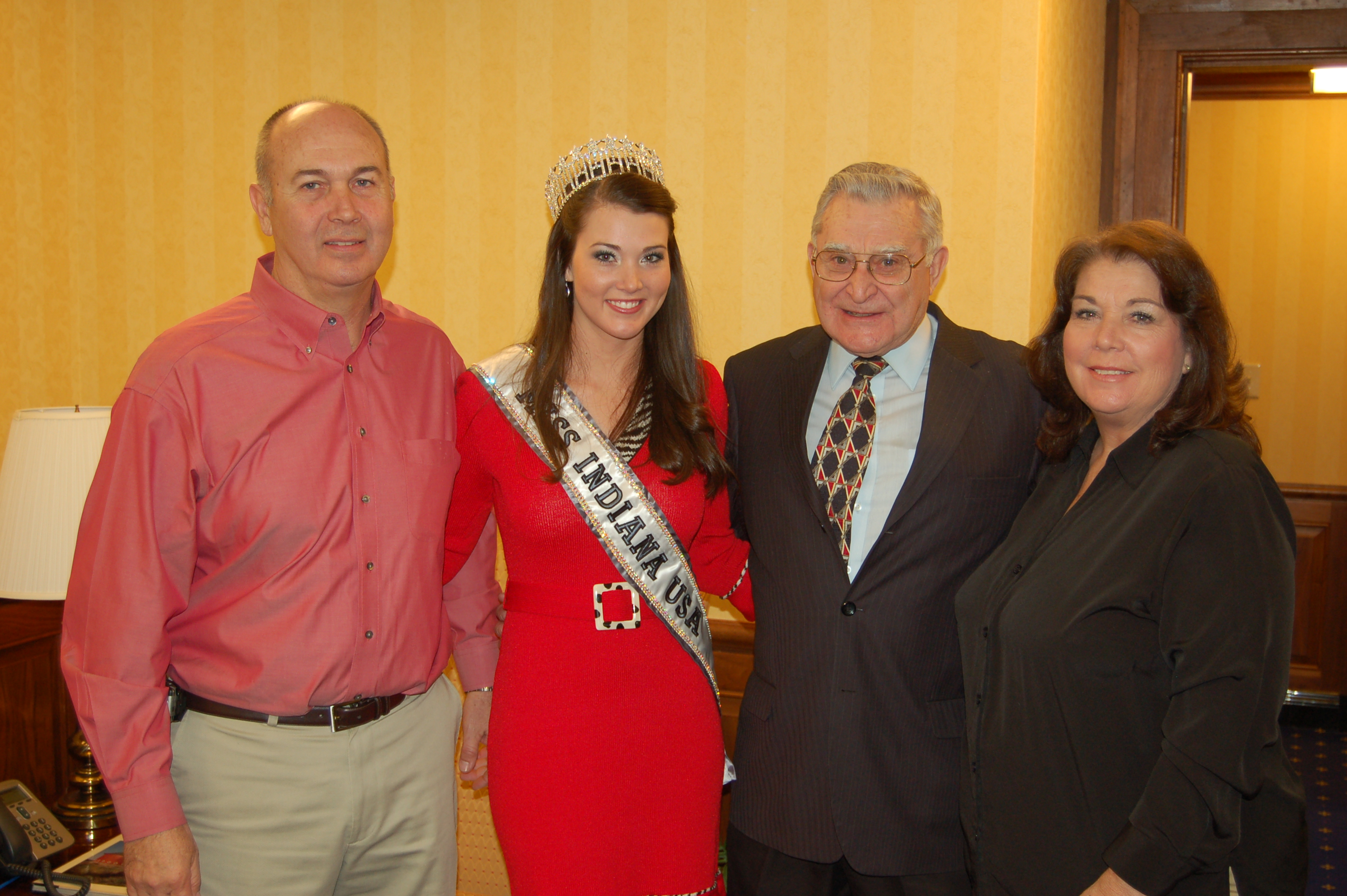 Senator Jim Lewis and Miss Indiana USA Allison Lynn Biehle