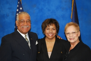 Sen. Breaux with Sheriff Anderson and his wife, Mercedes