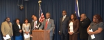 Sen. Randolph introduces the IBCL at a press conference on Jan. 8