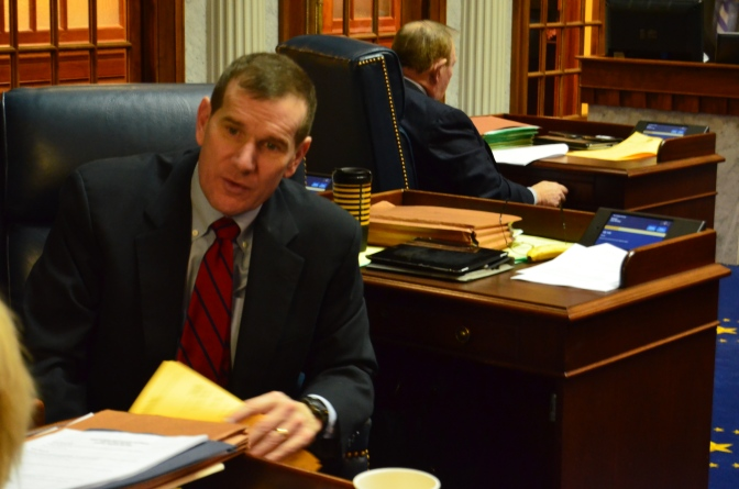 Senator Broden before session began.